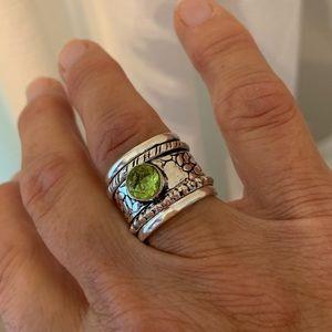 Jewelry - PERIDOT MEDITATION SPINNER HANDMADE RING SIZE 8.